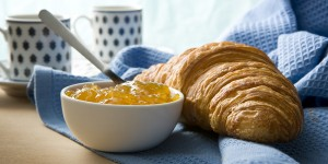 Croissant and jam-[iStock_000010513082XLarge]